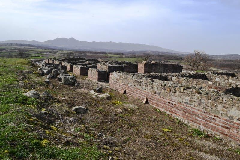 Justiniana Prima, Romański Bizantyjski miasto, forteca ściany obrazy stock