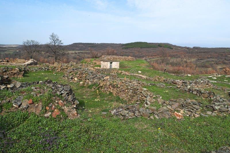 Justiniana Prima, Romański Bizantyjski miasto, forteca ściany obrazy royalty free