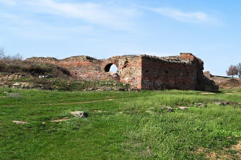 Justiniana Prima, Romańskie Bizantyjskie miasto ściany zdjęcie royalty free
