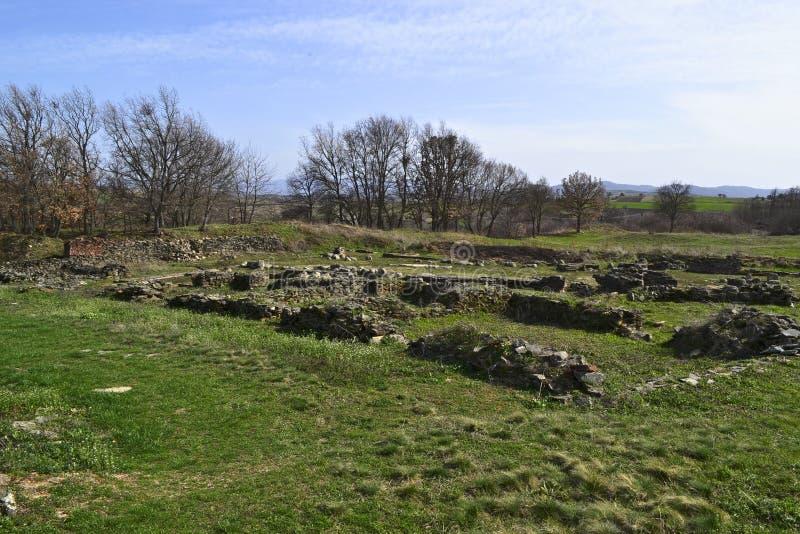 Justiniana Prima, Romańskie Bizantyjskie miasto ruiny fotografia stock