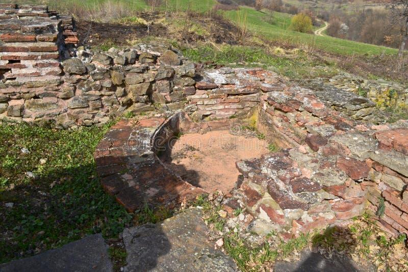 Justiniana Prima skąpanie na zewnątrz ścian obraz royalty free