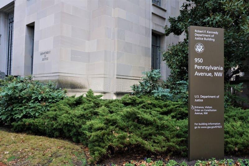 JustitiedepartementetWashington DC arkivbild