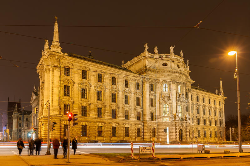 Justizpalast (正义宫殿),慕尼黑,巴伐利亚,德国 免版税图库摄影