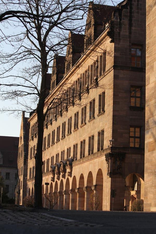 Justizpalast - Paleis van Rechtvaardigheid - Nuremberg, zuidelijk Duitsland royalty-vrije stock afbeeldingen