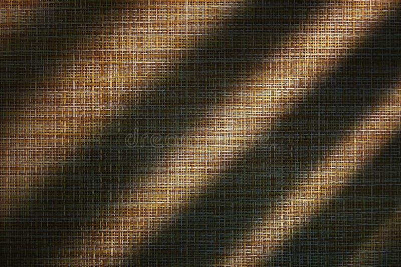 Jute abstracte bruine textuur als achtergrond Licht en Schaduw royalty-vrije stock afbeeldingen