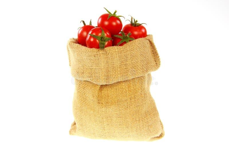 Download Jute bag fill of tomatoe stock image. Image of supermarket - 26633729