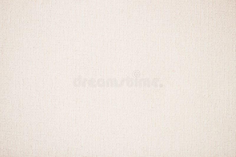 Jute, canvas, stof, jute, textuurpatroon voor achtergrond Room zachte kleur stock afbeelding
