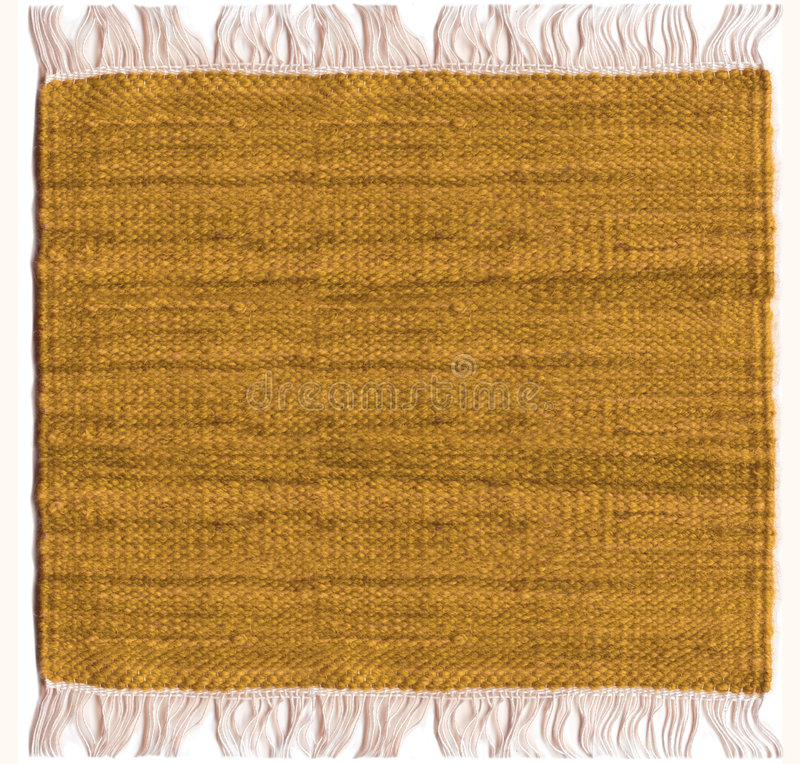 Jute carpet. Jute sepia carpet with white fringes royalty free stock images
