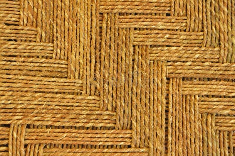Jute carpet stock image