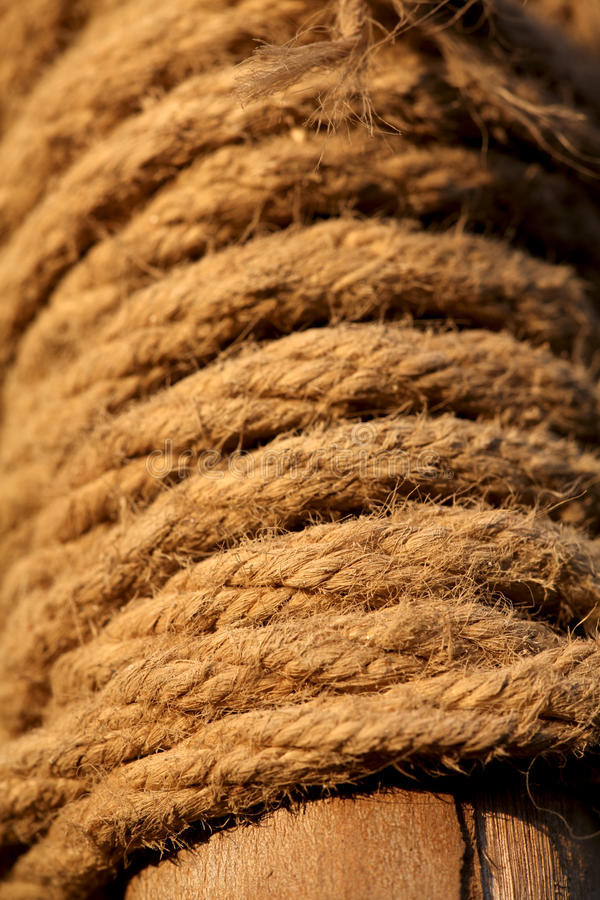 Jute Ropes Royalty Free Stock Photography