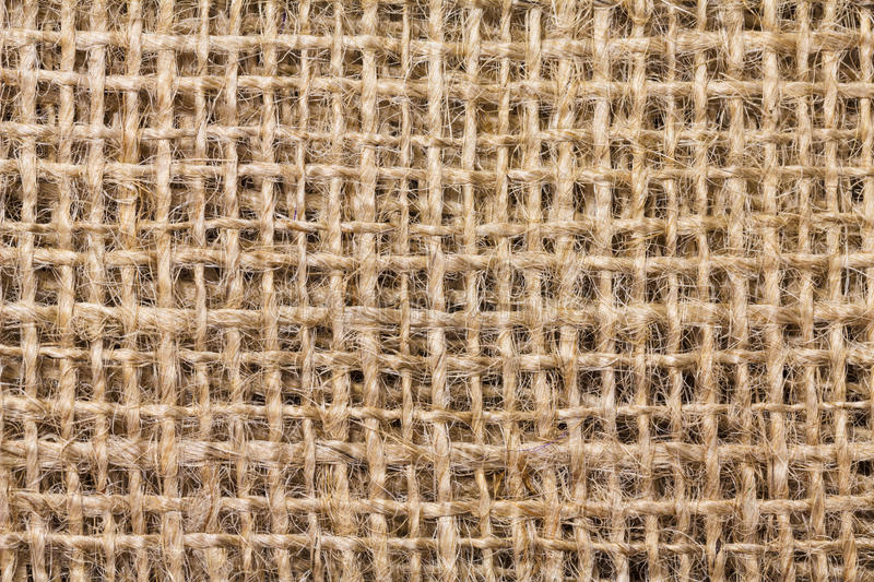 Jute. Texture of closed up jute fabric royalty free stock photos