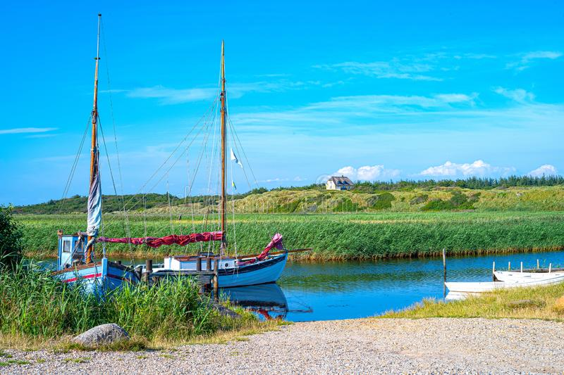 Jutland ancient architectures and wild landscapes royalty free stock images