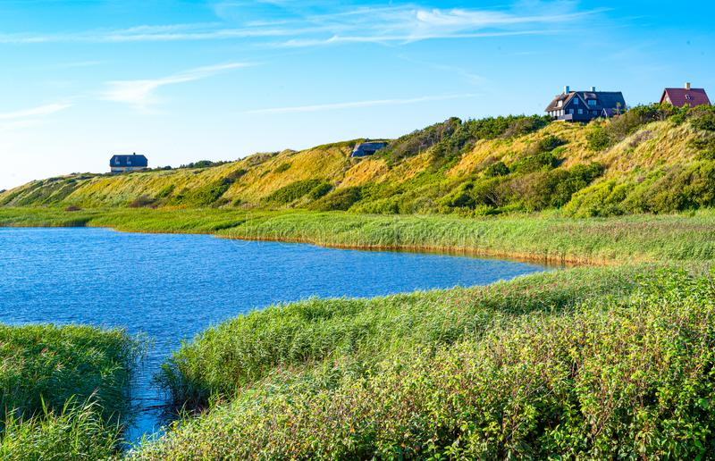 Jutland ancient architectures and wild landscapes stock image
