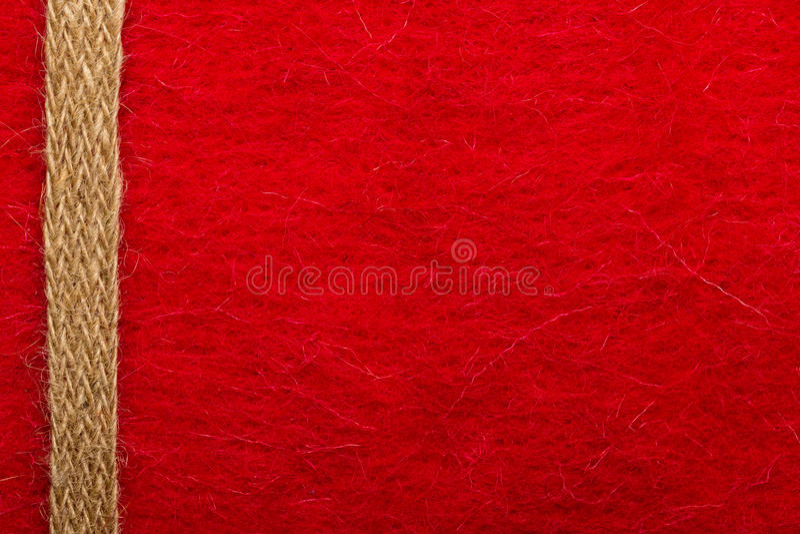 Jutowa arkana nad czerwonym tłem zdjęcia royalty free