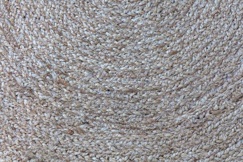 Jutowa galonowa ślimakowata dywanik tekstura fotografia royalty free