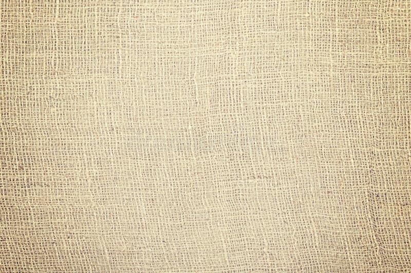 Jutowej tkaniny naturalna tekstura lub tło obraz royalty free