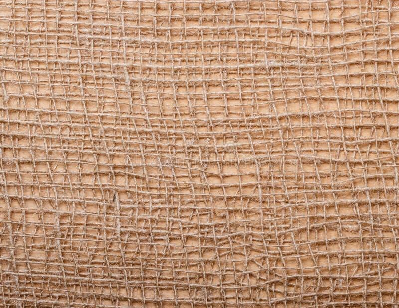 Jutowy tekstury tło zdjęcie royalty free
