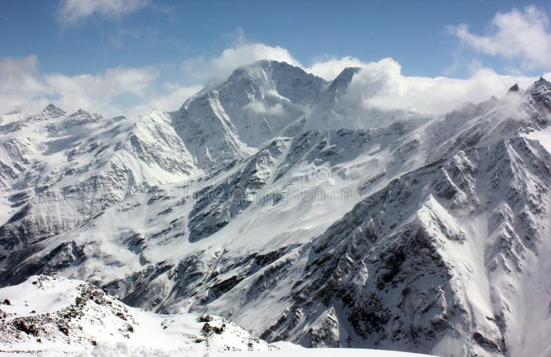 jutrzenkowej lekkiej halnego szczytu fotografii purpurowy śnieżny brać fotografia stock