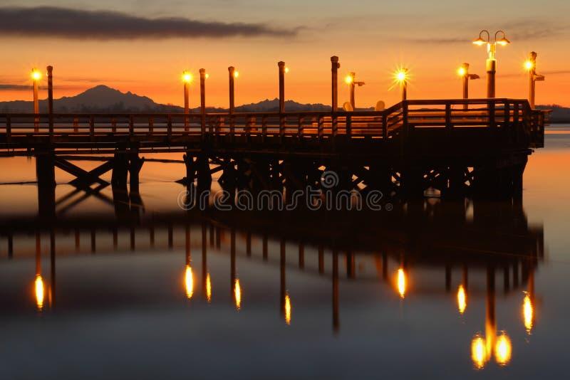 Download Jutrzenkowy Połowu Molo, Fraser Rzeka Zdjęcie Stock - Obraz złożonej z kanada, british: 28966524