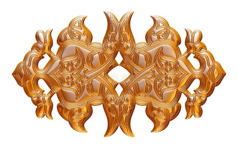 Juveleraregarnering Räckvidd som inramar guld pryder med ädelsten halsbandet vektor illustrationer
