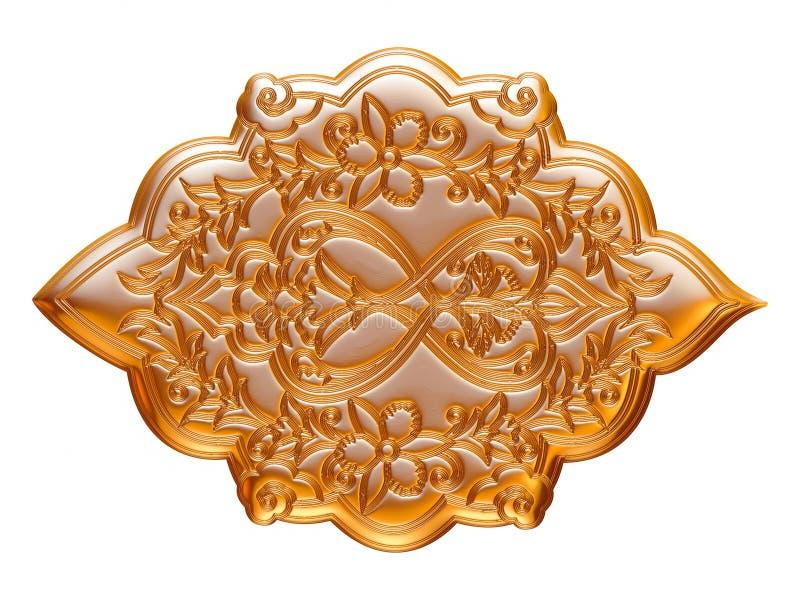Juveleraregarnering Räckvidd som inramar guld pryder med ädelsten halsbandet stock illustrationer