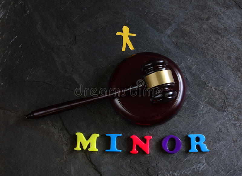 Juvenile court system stock image