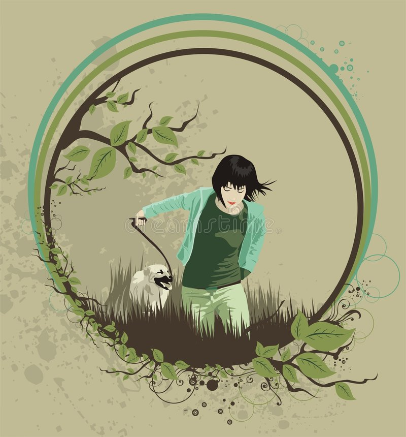 Download Juventud ilustración del vector. Ilustración de perro - 7151413