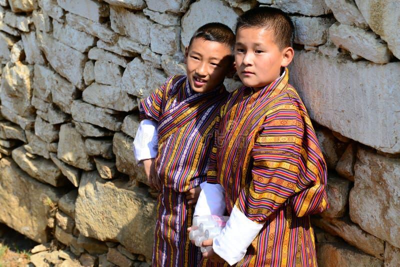 Juventud butanesa fotos de archivo libres de regalías