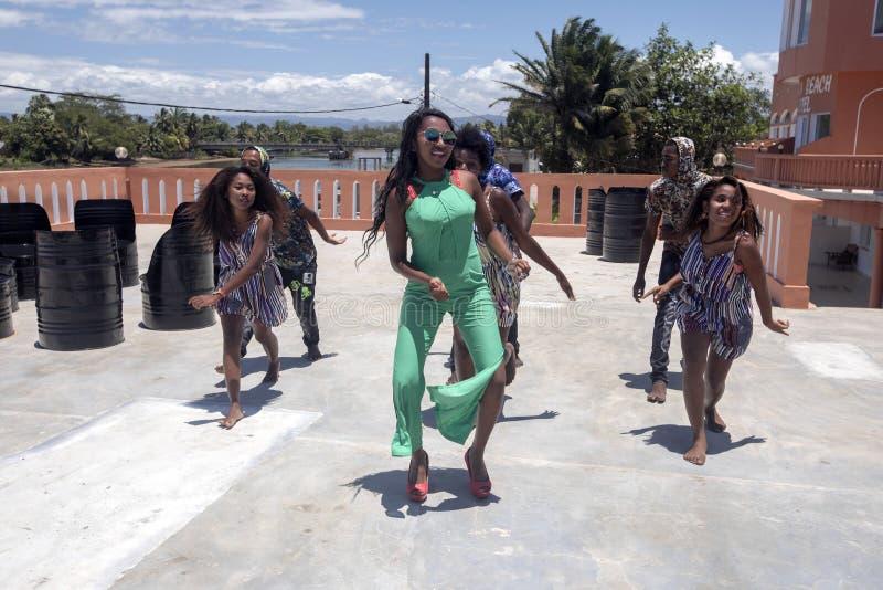 a juventude da dança, Madagáscar, Madagáscar fotografia de stock royalty free