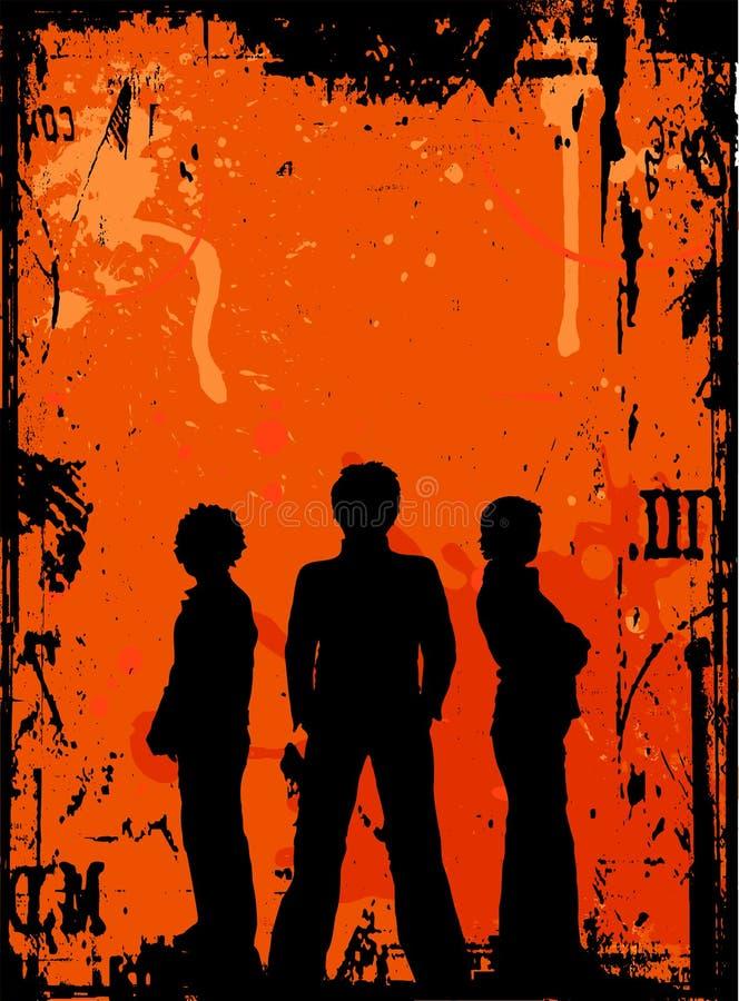 Juventude de Grunge ilustração do vetor
