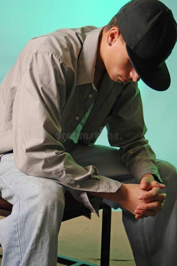 Juventude Praying fotos de stock