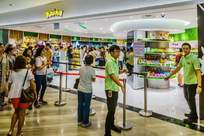 Juwel Changi-Flughafen Singapur - Pokemon-Mitte Singapur stockbild