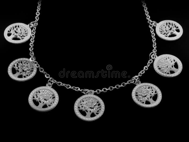 Juwel-Halskette Hängender Baum des Lebens 375 Magnumrevolver stockbild
