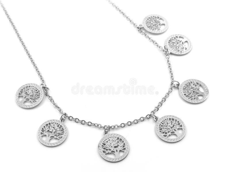 Juwel-Halskette H?ngender Baum des Lebens 375 Magnumrevolver stockbild