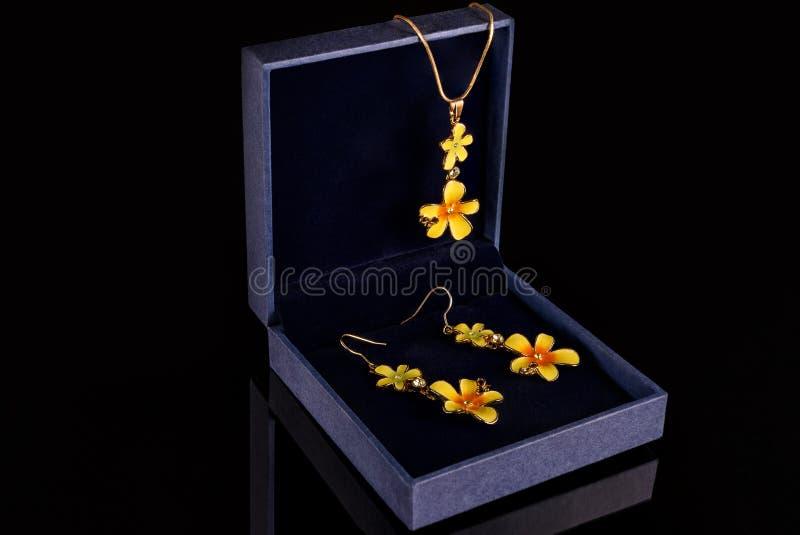 Juwelen in de doos royalty-vrije stock foto's