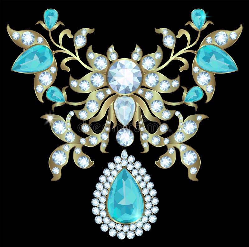 juwelen met diamanten stock illustratie
