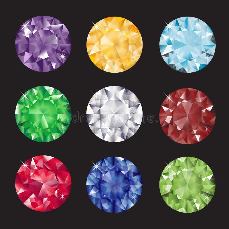 Juwelen op zwarte royalty-vrije illustratie