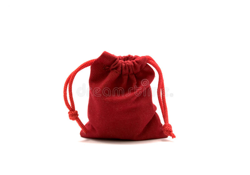 Juwelen rode zakken royalty-vrije stock afbeelding