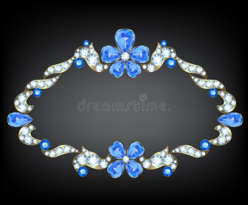 Juwelen uitstekende kaart vector illustratie