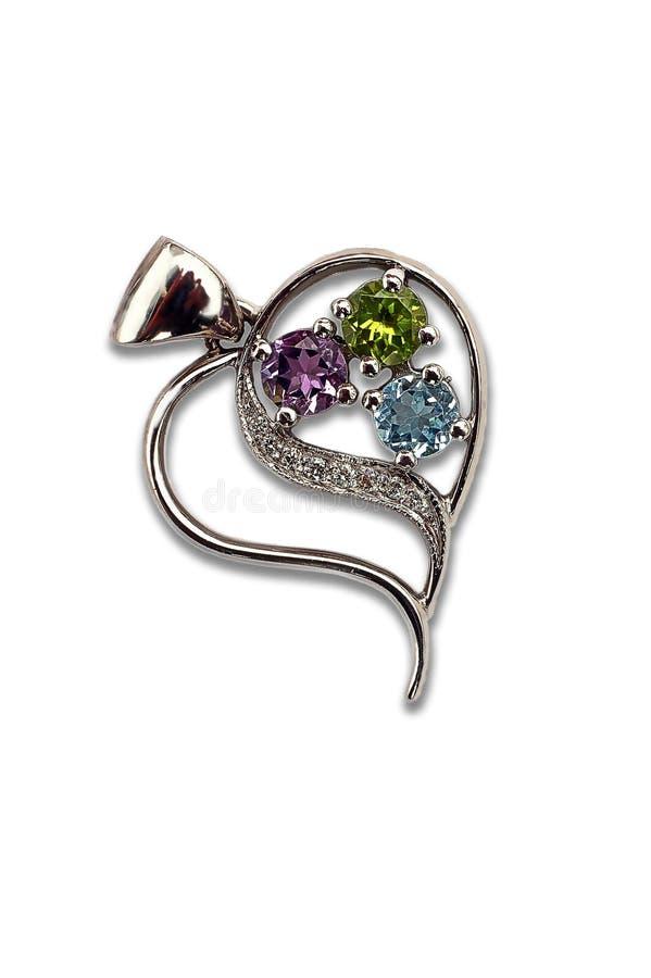 Juwelen van witgoud stock afbeeldingen