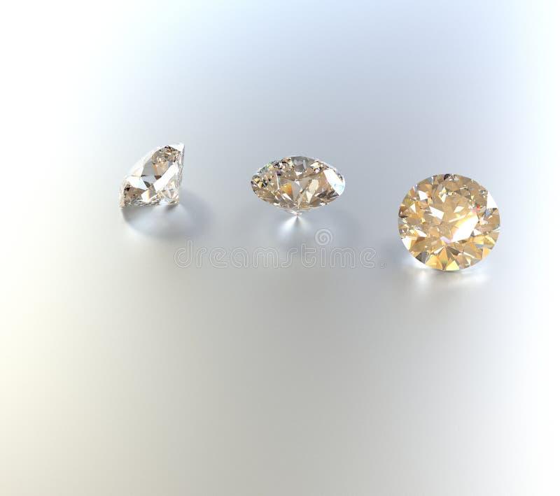 Juwelenachtergrond met halfedelstenen 3D Illustratie royalty-vrije illustratie