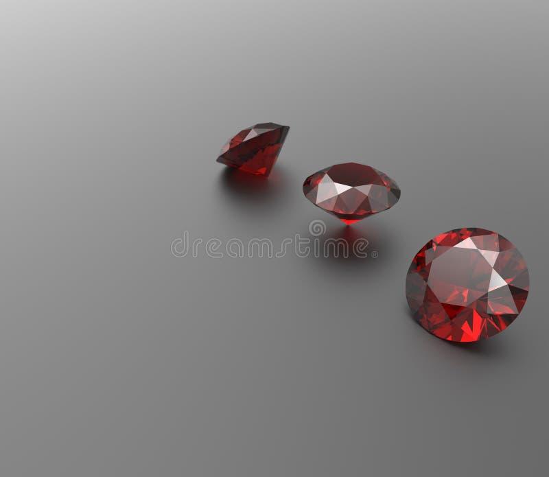 Juwelenachtergrond met halfedelstenen 3D Illustratie stock illustratie