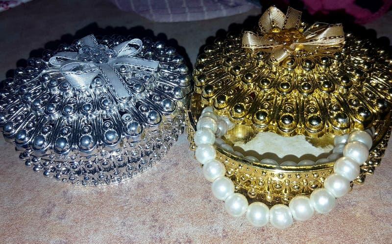 Juwelendozen royalty-vrije stock foto
