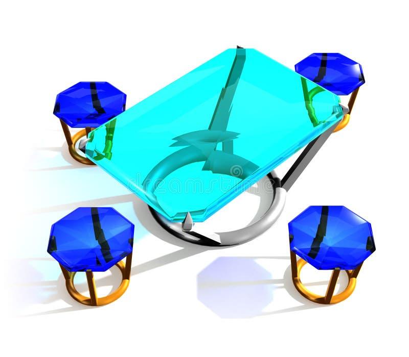 Juwelenlijst stock afbeeldingen