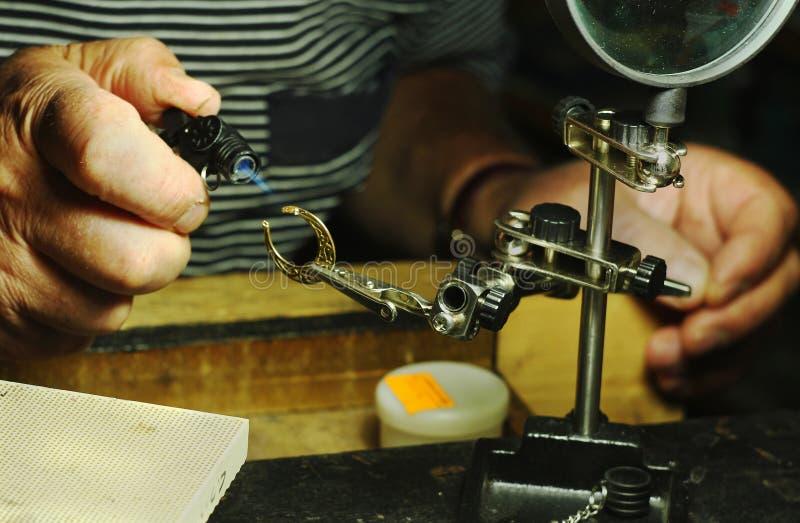 Juwelenworkshop stock foto's