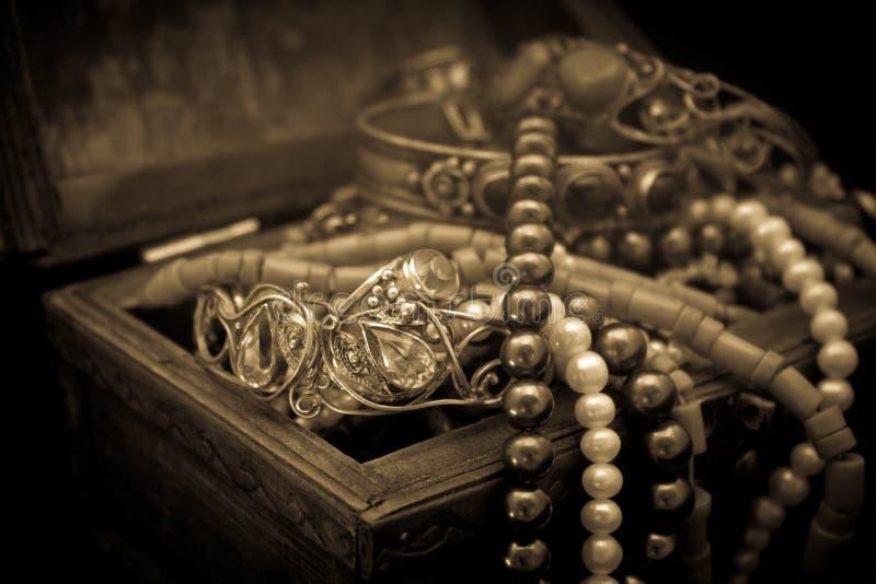 Juwelkasten stockbild