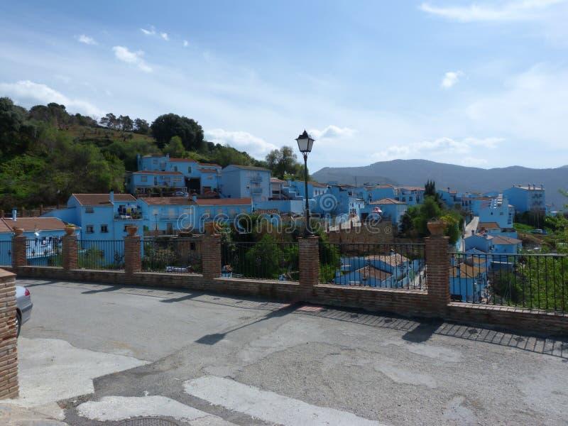 Juzcar Andalucian村庄  库存图片