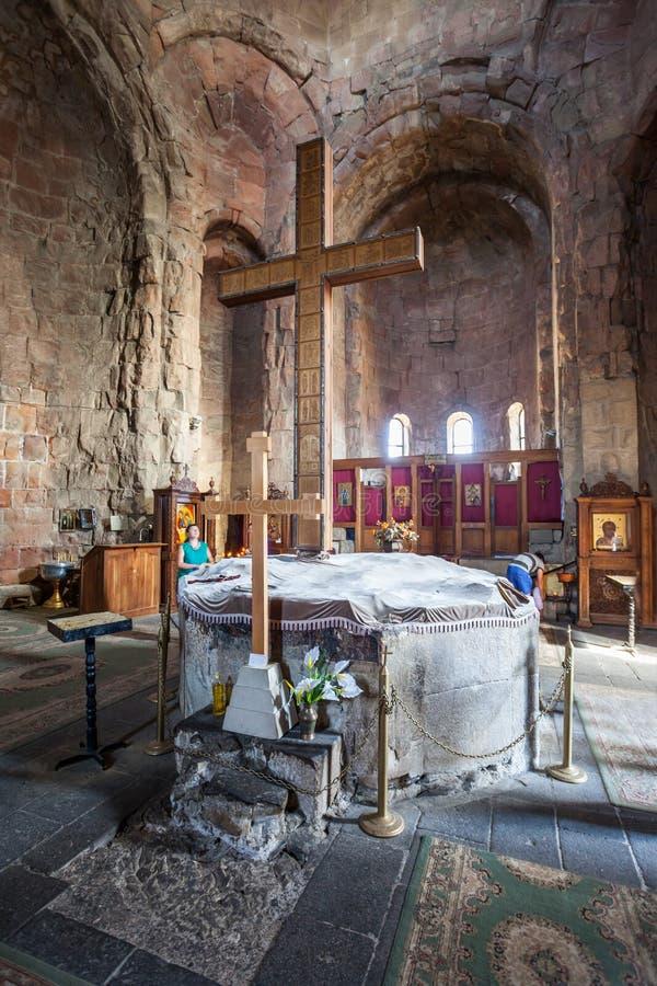 Jvari修道院,姆茨赫塔 免版税库存照片