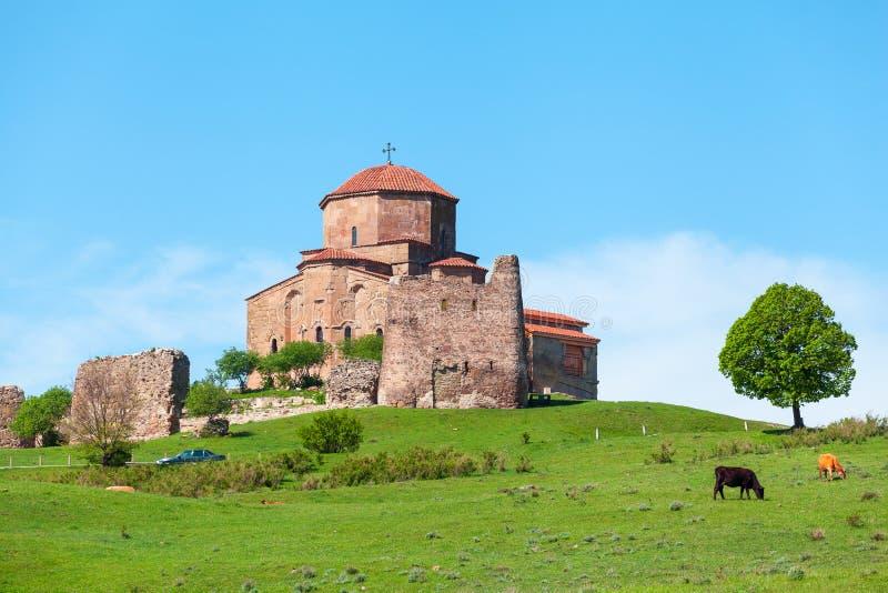 Jvari修道院 姆茨赫塔,东乔治亚 图库摄影