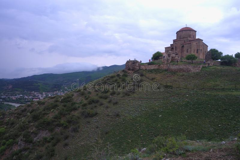 Jvari修道院 远离世界的熙来攘往 免版税库存图片